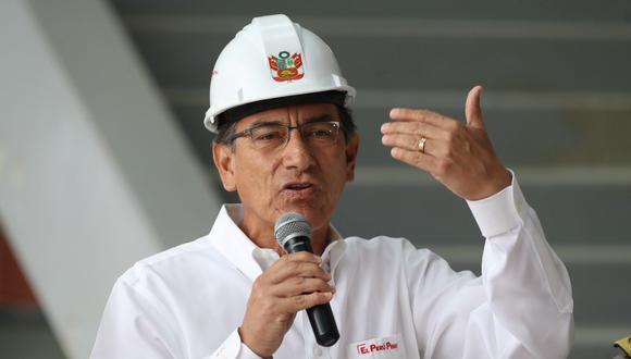 Martín Vizcarra se pronunció sobre el paro agrario anunciado para el próximo 13 de mayo. Presidente evaluó el nuevo Hospital de la Policía. (Foto: Rolly Reyna / El Comercio)