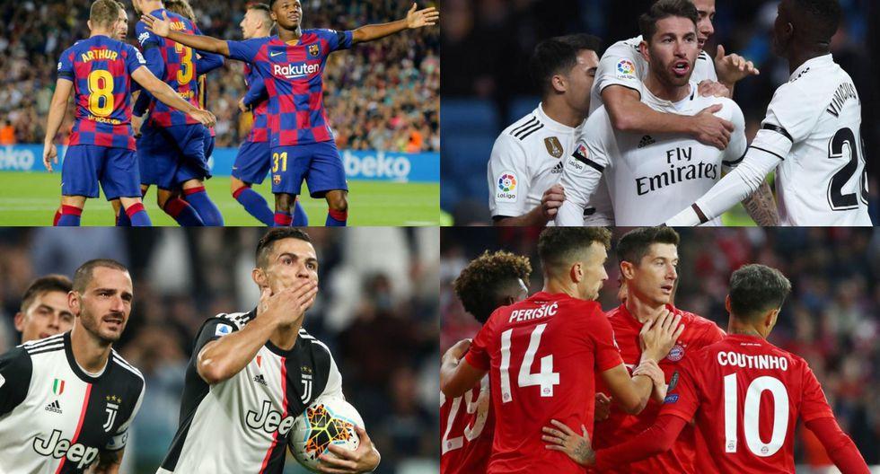 Equipos clasificados a octavos de final de la Champions League