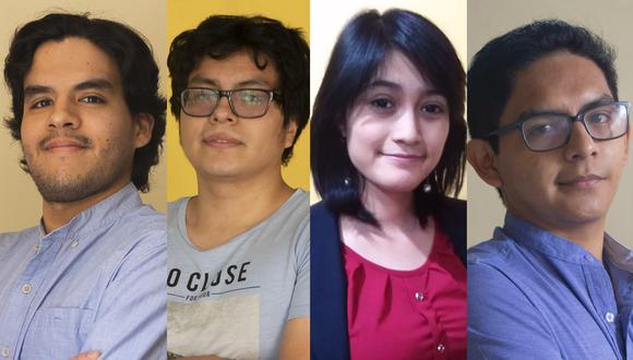 Andree Guevara, Willington Farro, Lisette Nervi y Julio Ríos son los ganadores de la Hackathon UTP-El Comercio 2020.