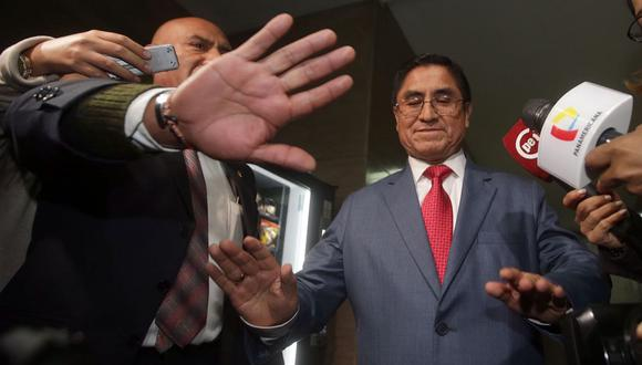 César Hinostroza es sindicado por la fiscalía como el presunto cabecilla de la organización criminal Los Cuellos Blancos del Puerto. (Foto: Andina)