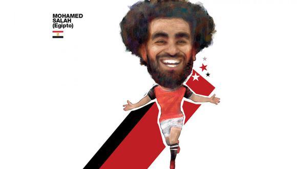 Mohamed Salah. (Ilustración: Andrés Edery)