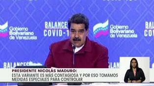 Maduro anuncia presencia de variante brasileña de covid-19 en Venezuela