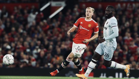 Manchester United perdió 1-0 ante West Ham por la tercera ronda de la Carabao Cup.