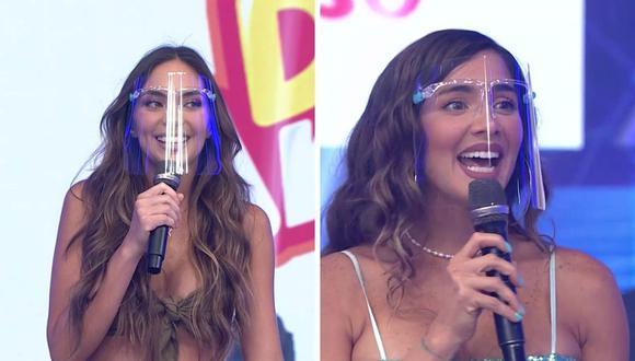 """Korina Rivadeneira y Natalie Vértiz se mostraron feliz al estar en el set de """"Esto es guerra"""". (Foto: Captura América TV)."""