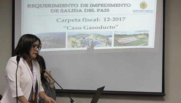La fiscal Geovana Mori aseguró que el testimonio de Jorge Barata revela que Nadine Heredia tuvo injerencia directa en el Gasoducto Sur Peruano. (Foto: Difusión)