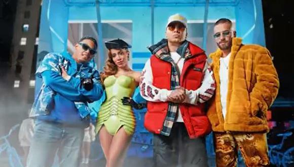 """Wisin, Myke Towers, Maluma y Anitta estrenaron """"Mi Niña Remix"""". (Foto: captura de video)"""