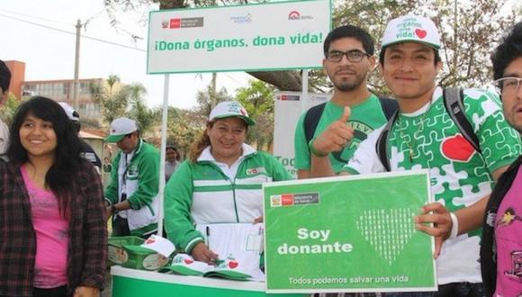 El Ministerio de Salud realiza diversas actividades de sensibilización en diversos hospitales del país, en el marco del Día Mundial del Donante de Órganos que se celebra el 23 de mayo. (Difusión)