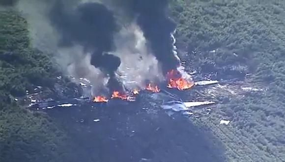 En el avión viajaban supuestamente nueve personas. (Foto: Twitter)