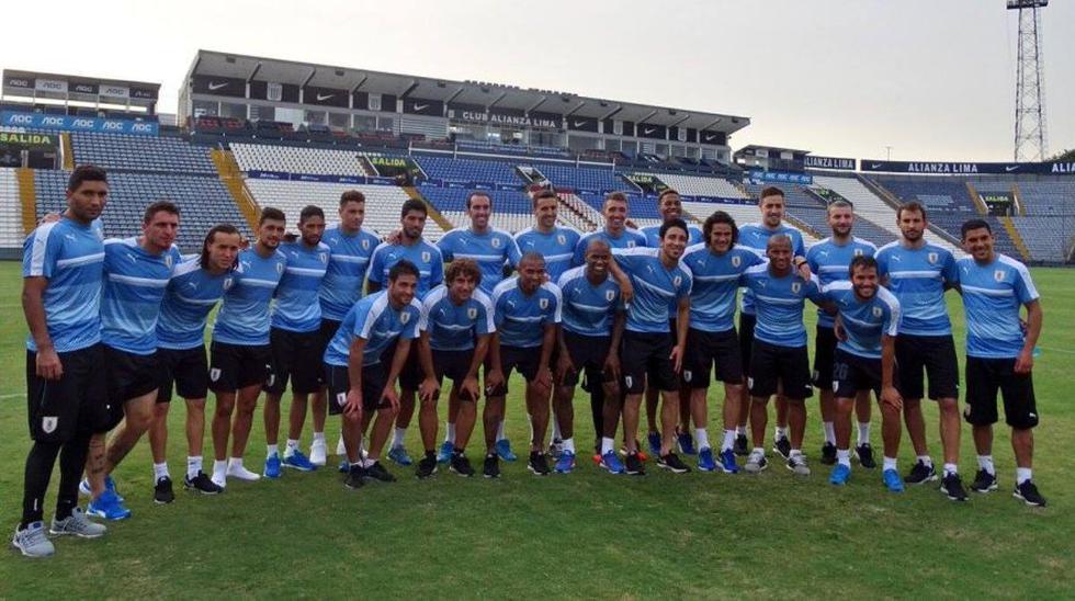 Selección uruguaya realizó su último entrenamiento en Matute - 4