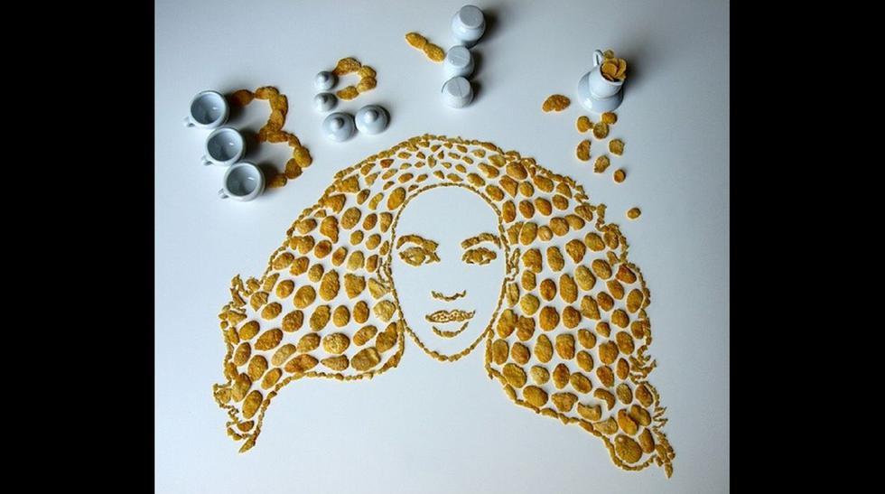 Instagram: artista utiliza cereales para retratar a músicos - 1