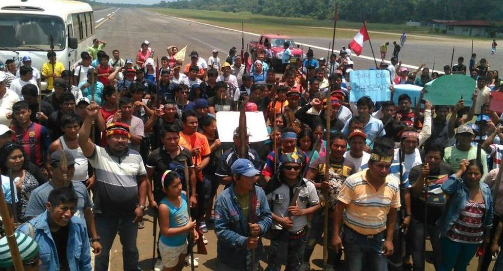 Loreto: comunidades nativas toman aeródromo de Andoas