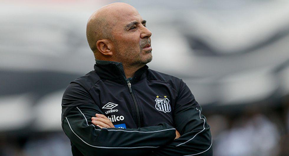 Jorge Sampaoli dirigió el año pasado al Santos de Brasil. (Foto: Agencias)