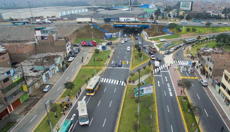Los trabajos se hicieron a la altura de la cuadra 17 de la Av. César Vallejo, debajo de la Vía de Evitamiento. La ampliación de la vía resulta importante debido al desvío vehicular por las obras que se ejecutan en la  Carretera Central por la Línea 2 del Metro de Lima. (Difusión)