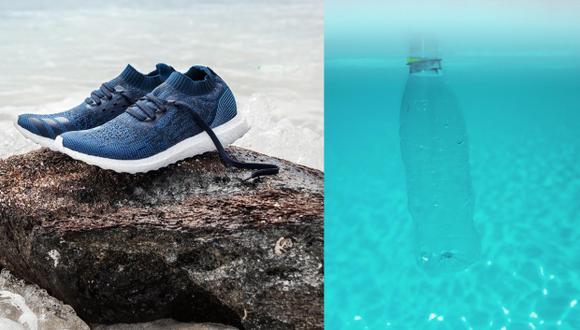 La unión de un fabricante de zapatillas con una asociación que protege los océanos ha dado como resultado un calzado deportivo hecho a partir de plástico reciclado. (Adidas/Parley)