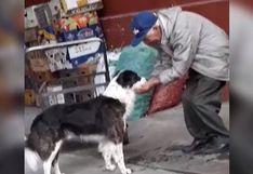 Anciano se las ingenia para darle agua a su perro sin un tazón y conmueve a todo Internet