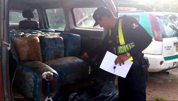 PNP decomisó 400 galones de petróleo de procedencia ilegal