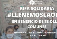 """""""Llenemos la olla"""": la rifa solidaria para apoyar a más de 70 ollas comunes"""