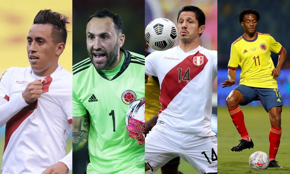 Así formarán las selecciones de Perú vs. Colombia. (Foto: Agencias)
