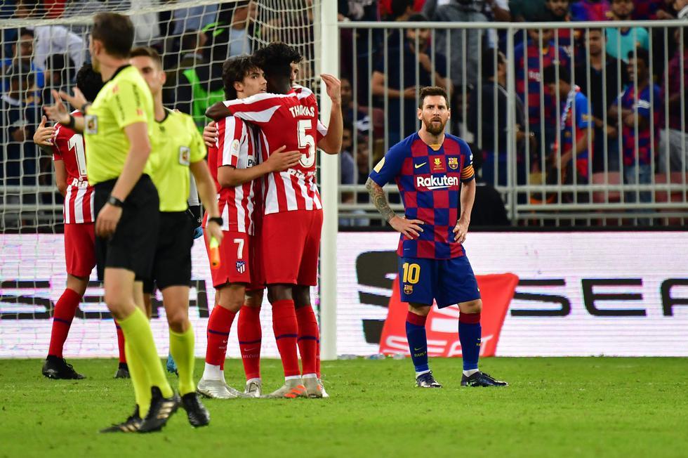 Barcelona vs. Atlético de Madrid: las mejores imágenes de la semifinal de la Supercopa de España. (AFP / Giuseppe CACACE)