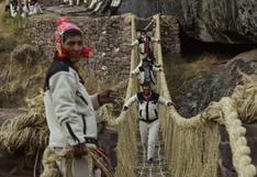 Cusco: restauraron Q'eswachaka, el último puente colgante inca en Perú que colapsó durante la pandemia | VIDEO