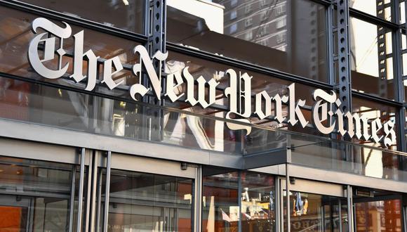 El edificio del New York Times en una imagen del 6 de septiembre de 2018. (Foto de ANGELA WEISS / AFP).