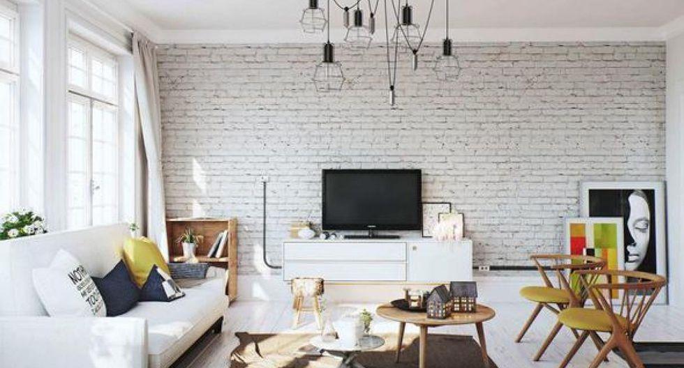 Si tu casa es de techo bajo, pinta la pared de blanco. (Foto: Image Box Studio)