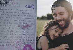 Le escribe una emotiva carta a su papá tras descubrir que tiene nueva novia