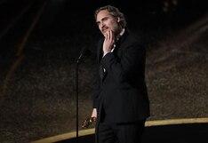 """Oscar 2020: Joaquin Phoenix fue elegido como el mejor actor por la cinta """"Joker"""""""