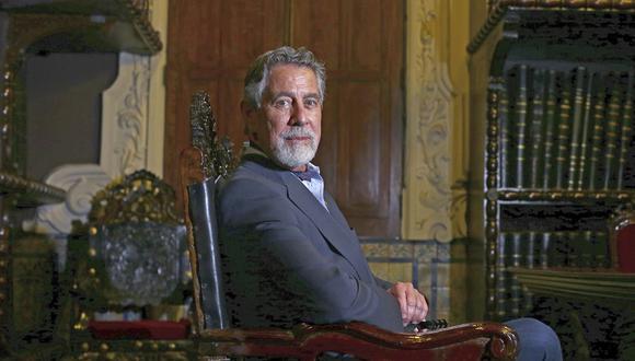 El presidente Francisco Sagasti brindó una entrevista a El Comercio, en la sede histórica de este Diario, ubicada en el jirón Lampa, en el Centro de Lima. (Foto: Alessandro Currarino)