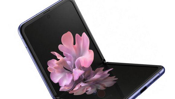 Así sería el próximo dispositivo de Samsung, el Galaxy Z Flip con tapita. (Foto: Evan Leaks)