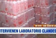 San Juan de Lurigancho: laboratorio clandestino adulteró 11 mil litros de alcohol medicinal | VIDEO