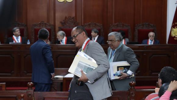 El procurador público Luis Alberto Huerta representó al Ejecutivo en la audiencia del TC por la disolución del Congreso. (Foto: GEC)