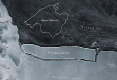 El iceberg más grande del mundo se divide en tres en medio del mar