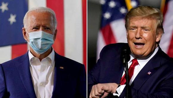 Faltan pocos días para las  elecciones Estados Unidos 2020. Los candidatos Donald Trump y Joe Biden compiten por ganar la presidencia. (Foto: AP | Composición: El Comercio)
