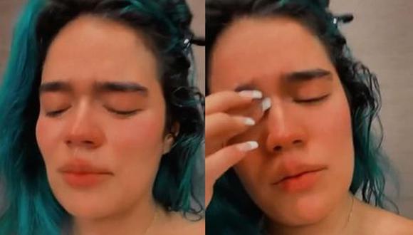 Karol G llora desconsoladamente mientras agradece el apoyo de sus fans en Instagram. (Foto: Captura)