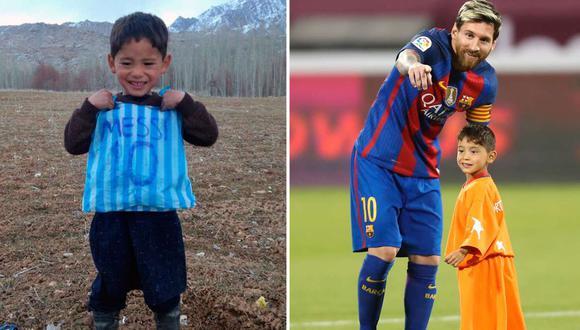 Murtaza Ahmadi cumplió su sueño de conocer a Lionel Messi.