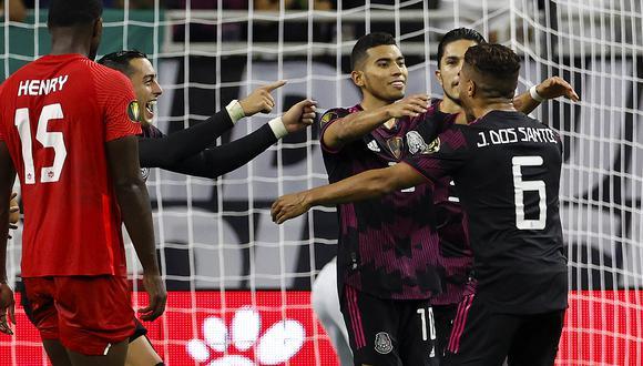 México venció 2-1 a Canadá y accedió a la final de la Copa Oro. (Foto: AFP)