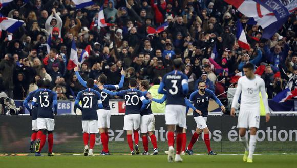 Francia venció 1-0 a Uruguay en París con gol de Giroud en el último amistoso FIFA del año   VIDEO. (Foto: AFP)