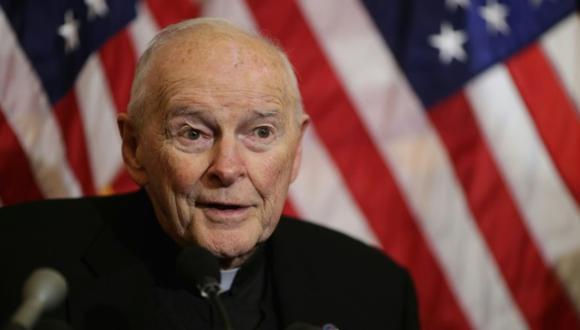 Theodore McCarrick, el ex cardenal de Washington acusado de abusos y recluido por orden del Papa. (Foto: AFP)
