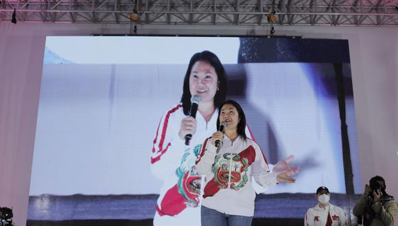 Keiko Fujimori también se refirió a los audios propalados por Fernando Olivera y que involucran al exasesor Vladimiro Montesinos. (Foto: Leandro Britto / @photo.gec)