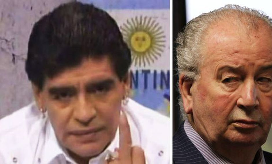 El último insulto de Maradona a Julio Grondona, hace un mes