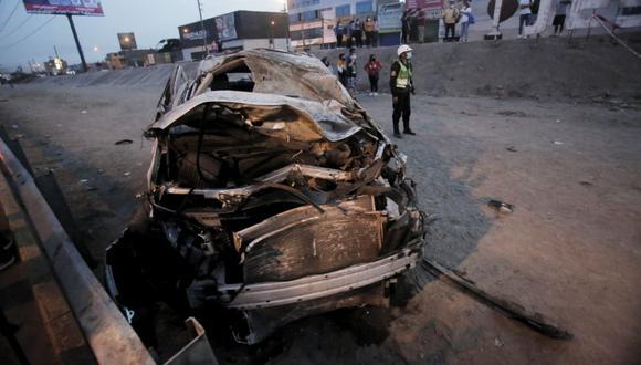 El accidente tuvo lugar esta madrugada en Comas. (Foto: César Grados / GEC)