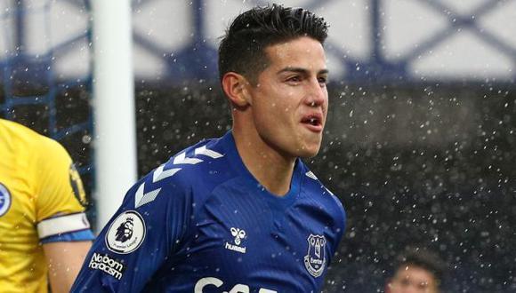 James Rodríguez dedicó un mensaje de despedida a Everton. (Foto: AFP)