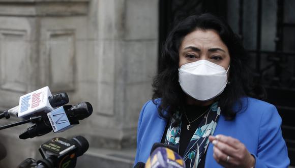 "Violeta Bermúdez expresó su preocupación ante un gabinete ""masculino"". (Foto: Jorge Cerdan/@photo.gec)"