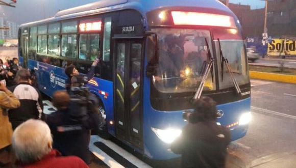 Primera operación del corredor azul generó demoras y malestar