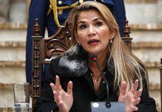 """Jeanine Áñez: """"Muy pronto"""" anunciará la convocatoria a elecciones en Bolivia"""