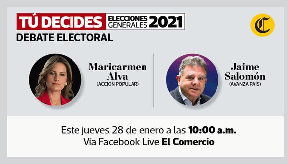#TúDecides El Comercio continuará con los debates virtuales de cara a las elecciones generales del 2021.