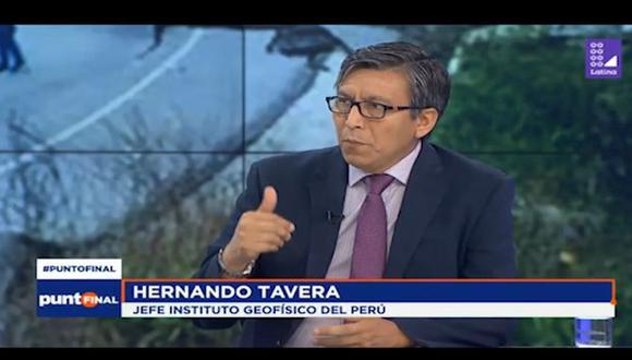 Hernando Tavera, presidente del IGP, remarcó que el sismo en Loreto tuvo una profundidad intermedia. (Punto Final)