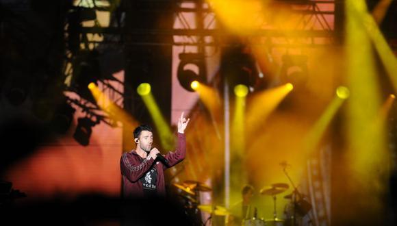 Adam Levine durante su presentación en Lima. (Foto: El Comercio / Gabriela Delgado)