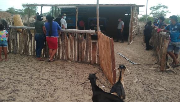 La Policía Nacional investiga la muerte de un ganadero al interior de su vivienda en el distrito de Tambogrande, en Piura (Foto: Difusión)